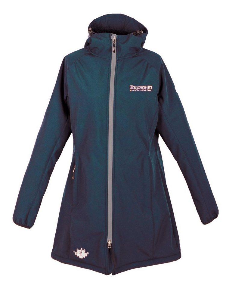 DEPROC Active Softshellmantel »Grizzly Peak Women« auch in Großen Größen erhältlich | Sportbekleidung > Sportmäntel > Softshellmäntel | Blau | Polyester - Elastan - Fleece | DEPROC Active