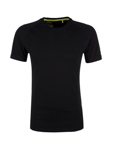 s.Oliver RED LABEL Slim: T-Shirt im Athleisure-Look