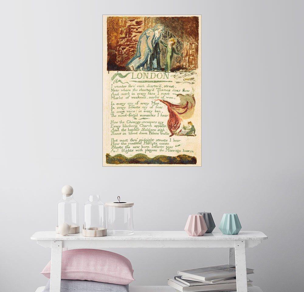 Posterlounge Wandbild - William Blake »London« | Dekoration > Bilder und Rahmen > Bilder | Holz | Posterlounge