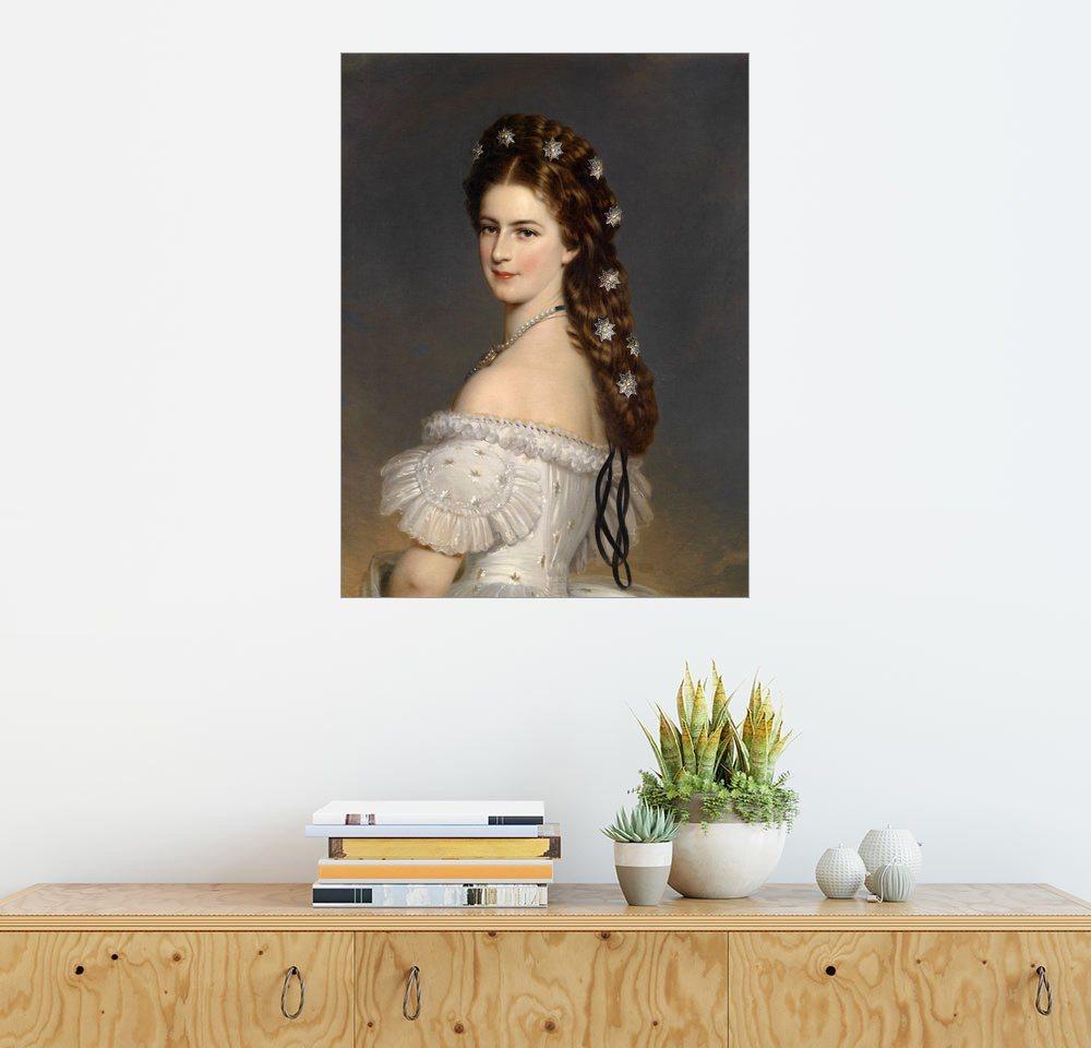 Posterlounge Wandbild - Franz Xaver Winterhalter »Kaiserin Elisabeth mit Diamentsternen« | Dekoration > Bilder und Rahmen > Bilder | Holz | Posterlounge