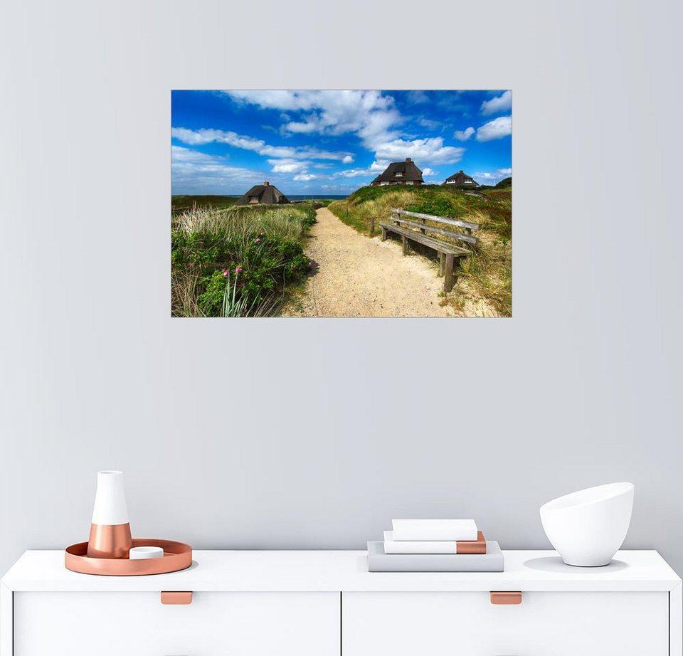 Posterlounge Wandbild - Filtergrafia »Sylt Dünen und Meer« online ...