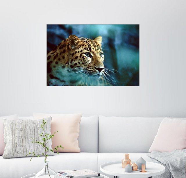 Posterlounge Wandbild - Michael Nichols »Nahaufnahme Amurleopard«   Dekoration > Bilder und Rahmen > Bilder   Posterlounge