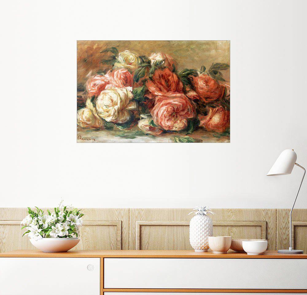 Posterlounge Wandbild - Pierre-Auguste Renoir »Rosen«