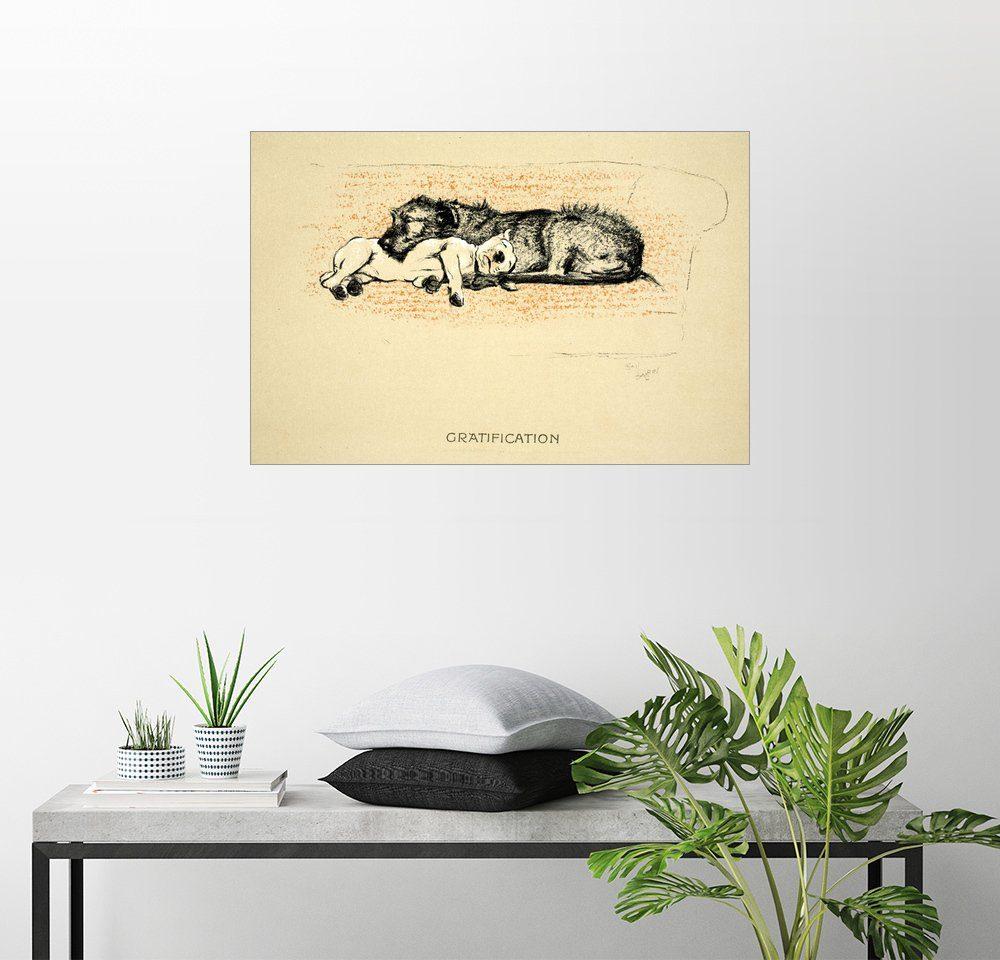 Posterlounge Wandbild - Cecil Charles Windsor Aldin »Befriedigung«
