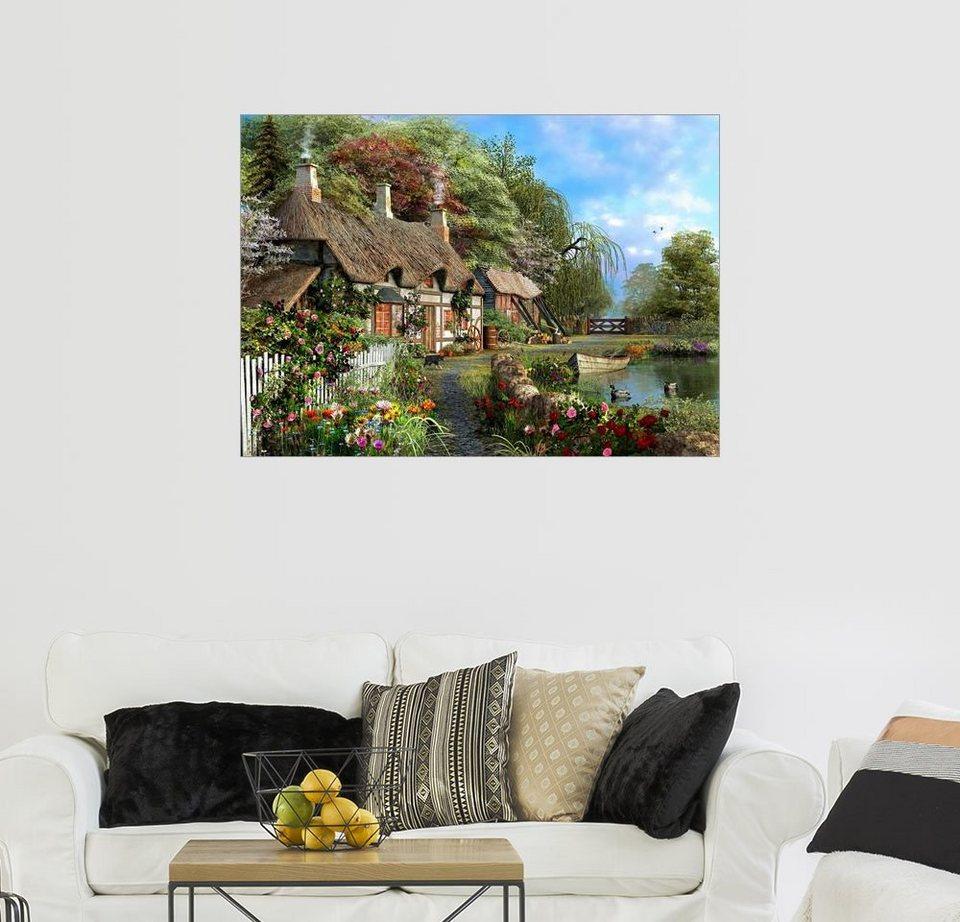 Posterlounge Wandbild   Dominic Davison »Das Landhaus Am Wasser«