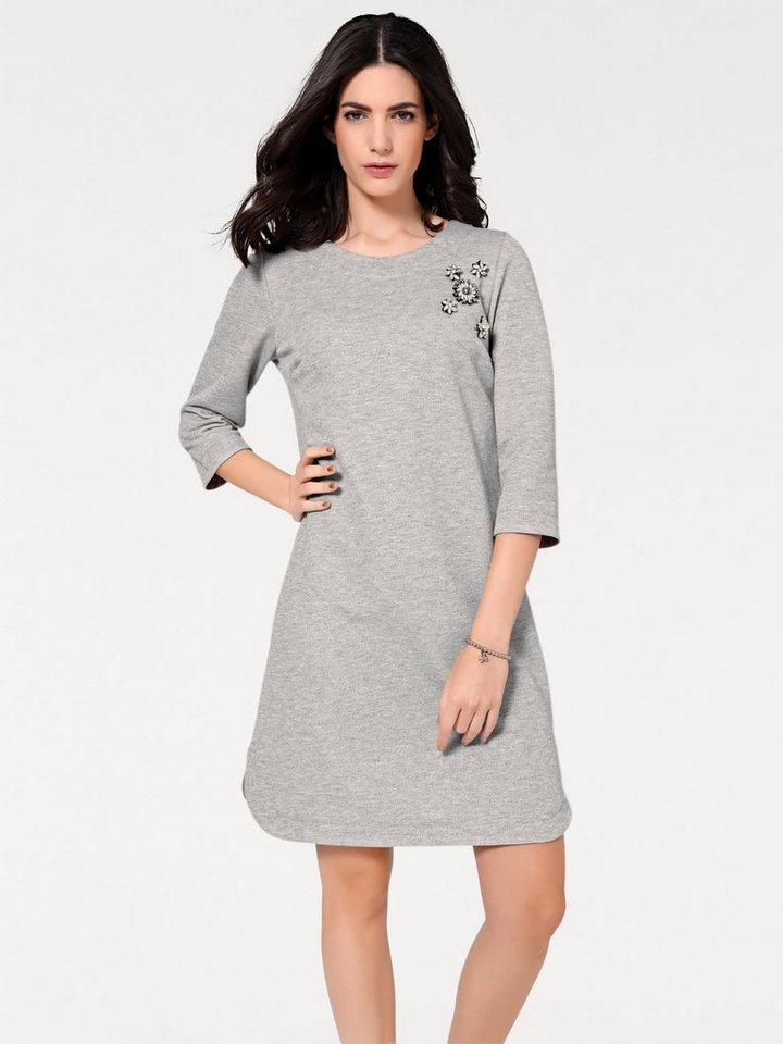 06f29aa3855af2 heine STYLE Kleid mit abnehmbaren Broschen kaufen | OTTO