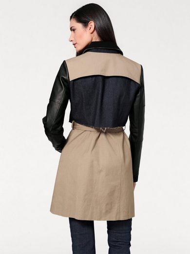 B.C. BEST CONNECTIONS by Heine Trenchcoat mit Lederdetails