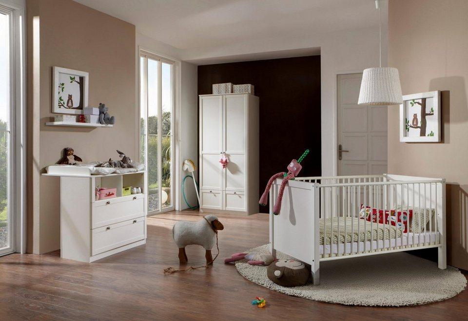 komplettzimmer helsingborg babybett wickelkommode 2 trg kleiderschrank 3 tlg set in. Black Bedroom Furniture Sets. Home Design Ideas