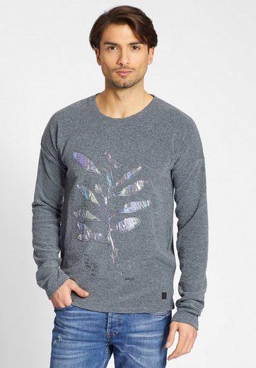 khujo Sweatshirt »WAJUN« mit Applikationen auf der Front