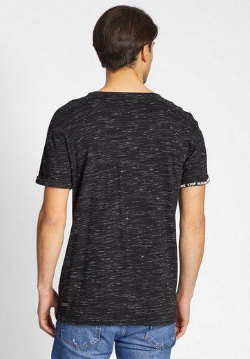 khujo T-Shirt TAYLOR, mit umgeschlagem Ärmelsaum