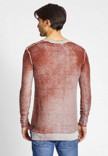 khujo Langarmshirt PAVEL, aus leichtem Strick