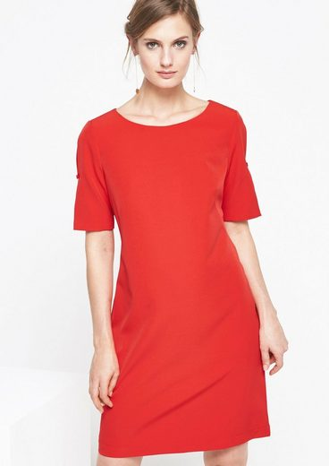 COMMA Elegantes Businesskleid mit Zierschleifen