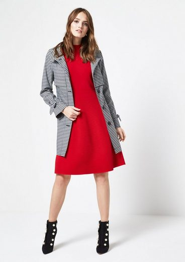 COMMA Trenchcoat in Karo-Optik