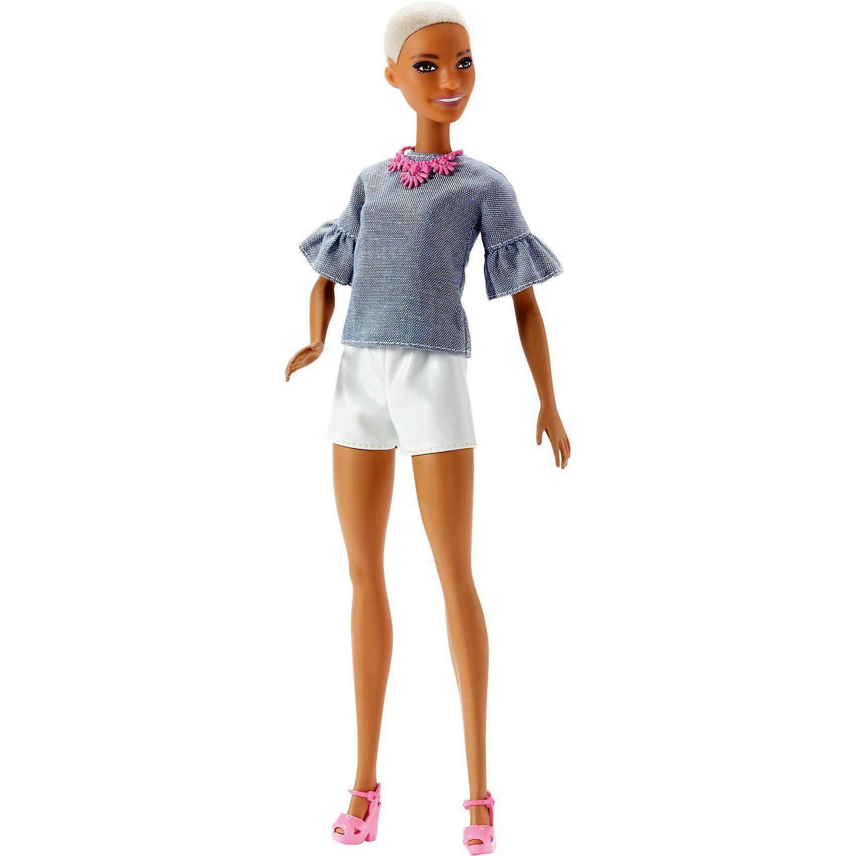 Mattel® Barbie Fashionista Puppe mit Buzz Cut und weißer Shorts