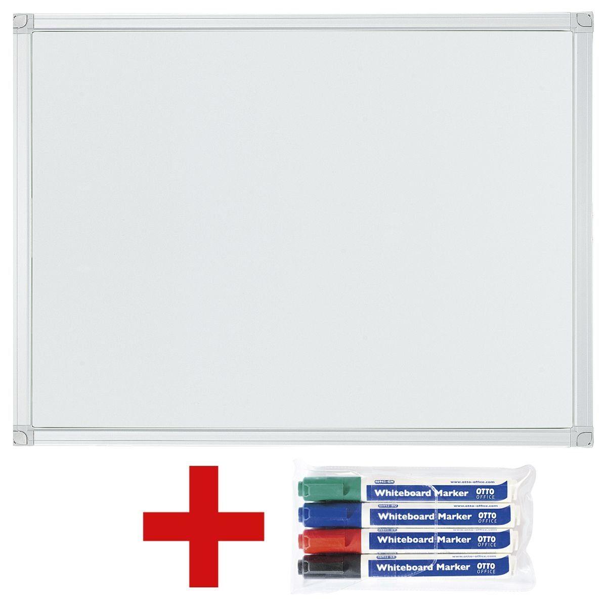 OTTOOFFICE STANDARD Whiteboard / Weißwandtafel inkl. 4er-Pack Whiteboard-Marker 1 Set
