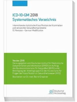 Broschiertes Buch »ICD-10-GM 2018 Systematisches Verzeichnis«