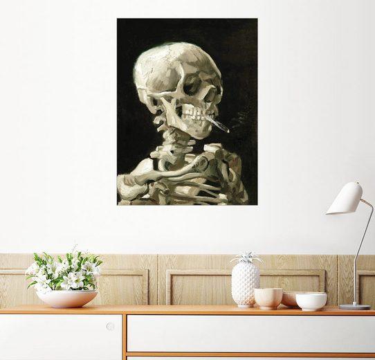 Posterlounge Wandbild - Vincent van Gogh »Skelett mit brennender Zigarette«