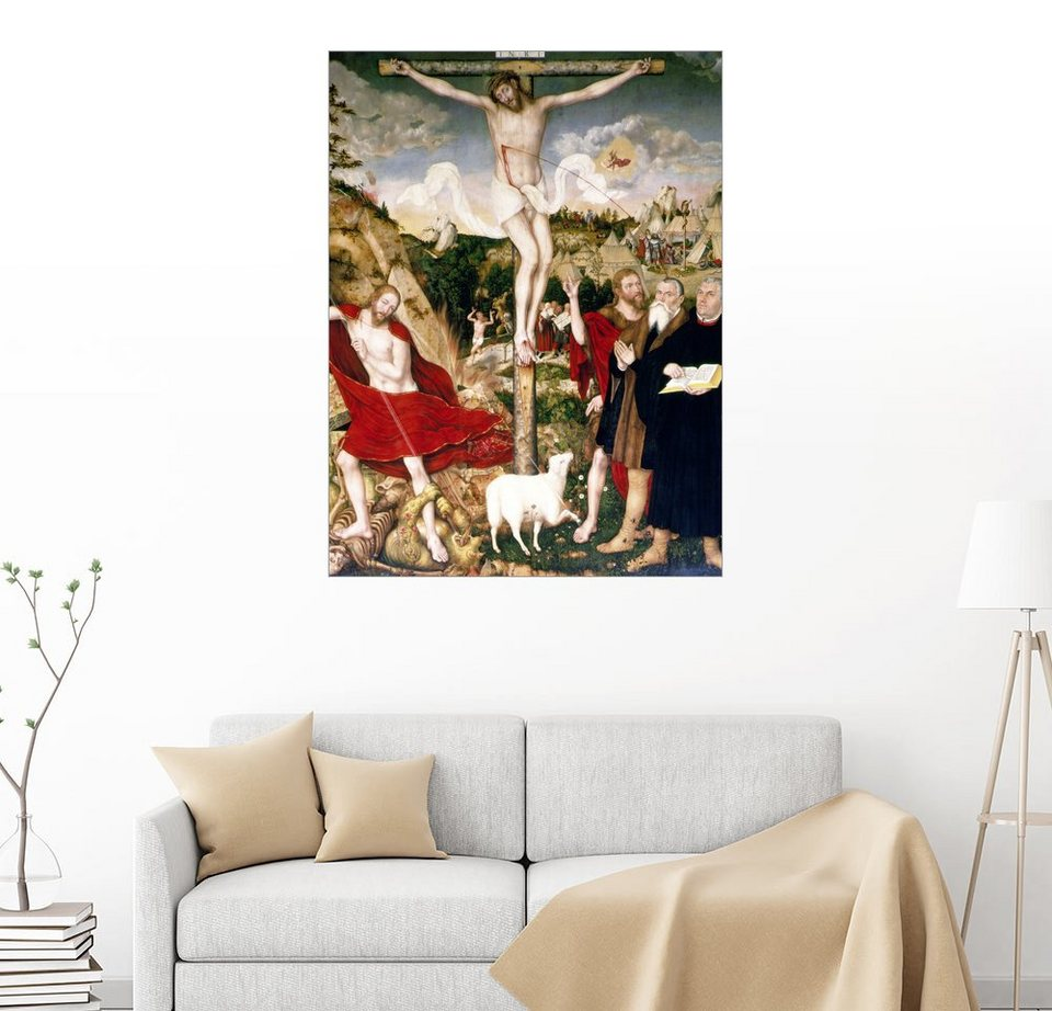 posterlounge wandbild lucas cranach d jesus am kreuz. Black Bedroom Furniture Sets. Home Design Ideas