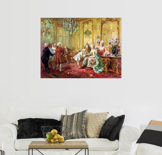 Posterlounge Wandbild - Vicente de Paredes »Die Präsentation des jungen Mozart in Versailles«
