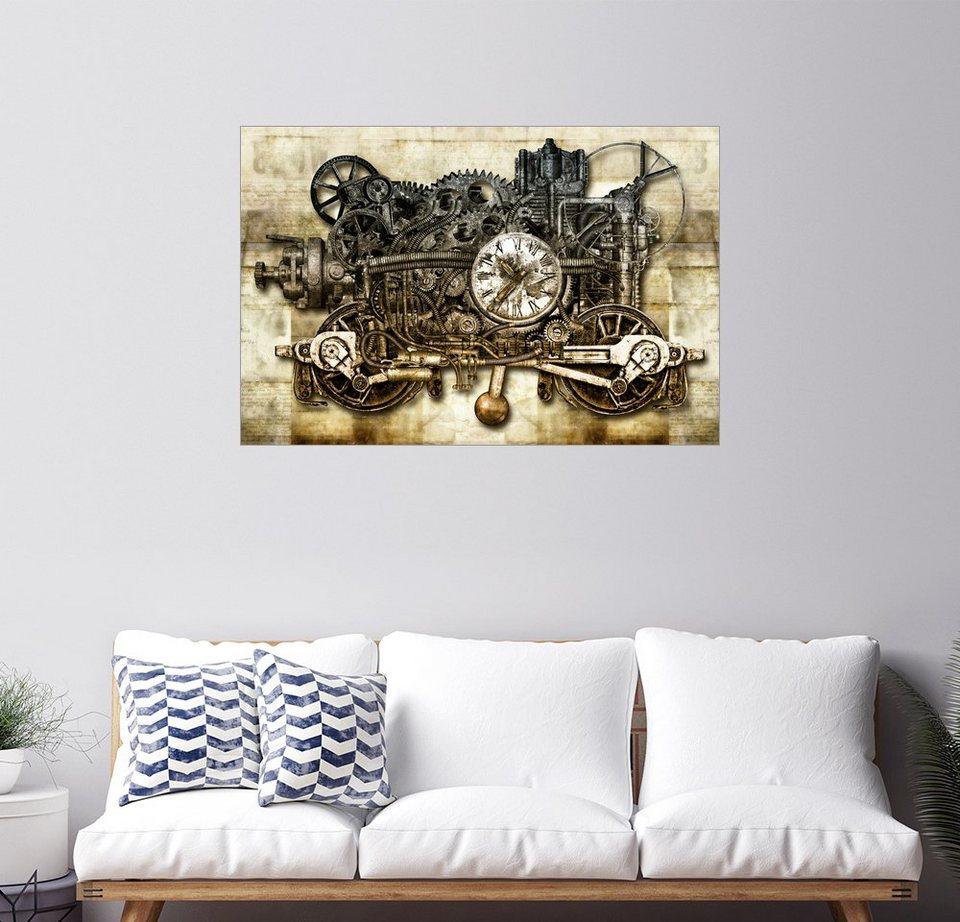 Posterlounge Wandbild Diuno Zeitmaschine Bunt?$formatz$