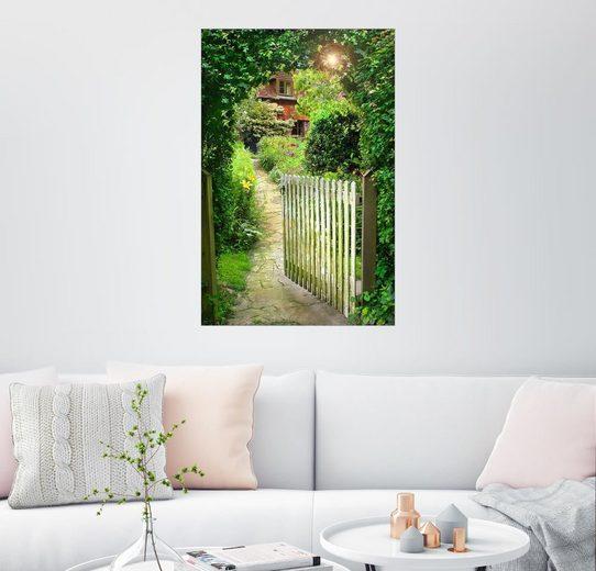 Posterlounge Wandbild - Simon Kayne »Verwunschenes Gartentor«