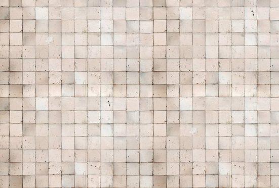 Architects Paper Fototapete »Old Tiles White«, (Set, 4 St), Fliesen in Vintage Optik, Vlies, glatt