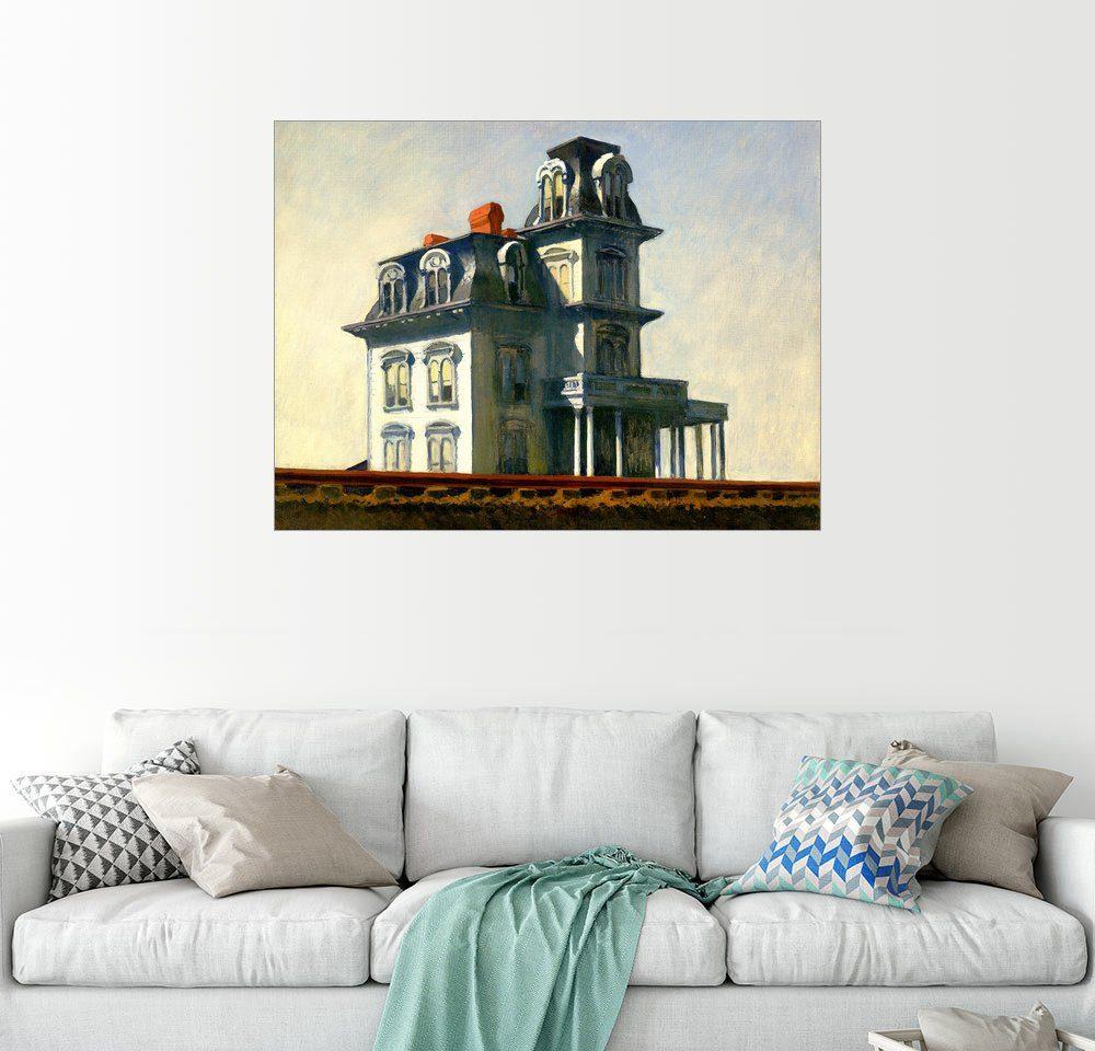 Posterlounge Wandbild - Edward Hopper »Das Haus neben dem Bahnhof«