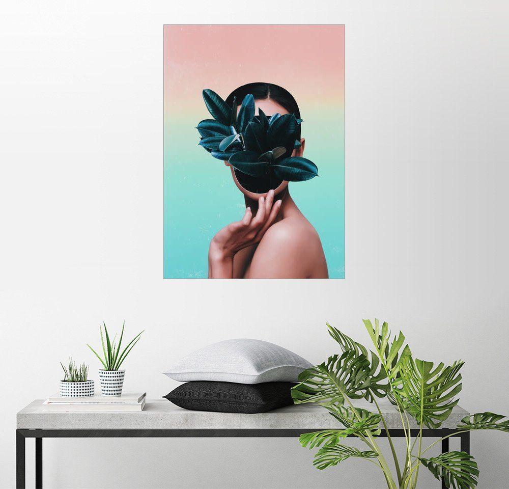Posterlounge Wandbild - Adam Priester »Plant Face«
