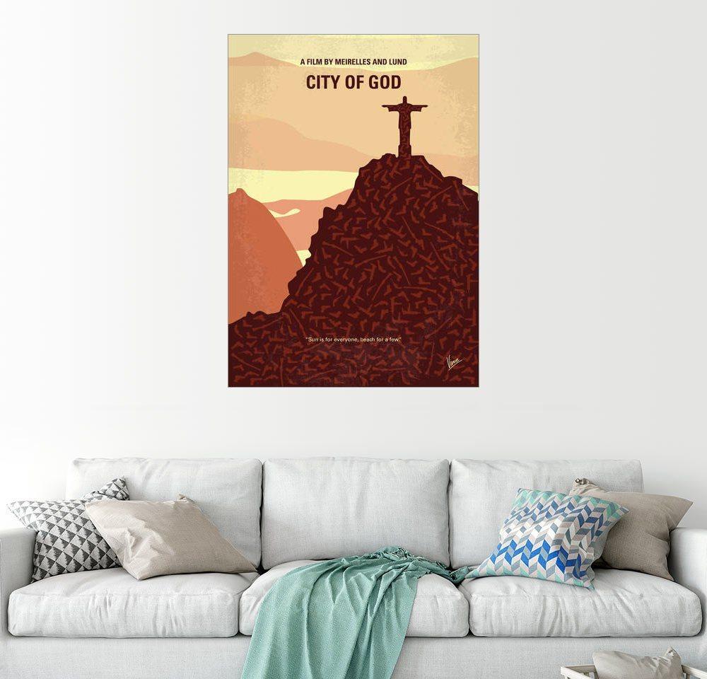 Posterlounge Wandbild - chungkong »No716 My City of God minimal movie poster«