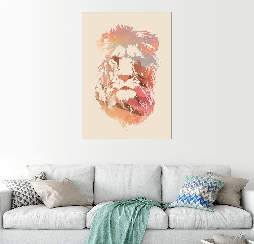 Posterlounge Wandbild - Robert Farkas »Wüste Löwe Finale« | Dekoration > Bilder und Rahmen > Bilder | Holz | Posterlounge