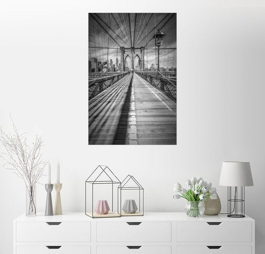 Posterlounge Wandbild - Melanie Viola »NEW YORK CITY Brooklyn Bridge«