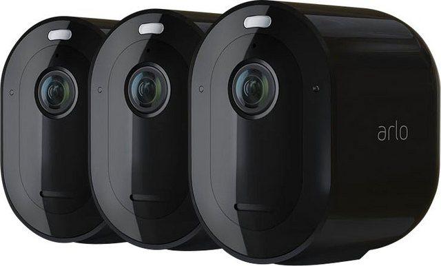 ARLO »Arlo Pro 4 Spotlight-Kamera-Set« Überwachungskamera (Außenbereich, Set, 3 x Arlo Pro 4 Spotlight Kamera, Integrierter Scheinwerfer, Integrierte Sirene, Wetterbeständig)