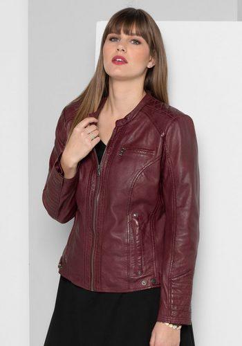 Damen sheego Style Lederjacke rot | 04054697785845