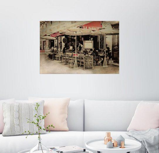 Posterlounge Wandbild - Claudia Moeckel »cafe de paris«
