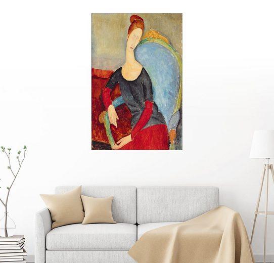 Posterlounge Wandbild - Amedeo Modigliani »Jeanne Hebuterne in einem Sessel sitzend«