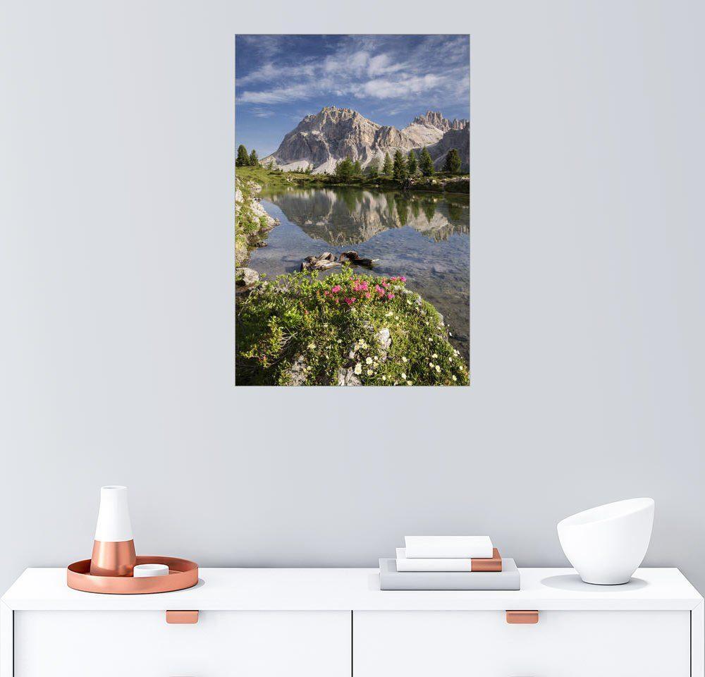 Posterlounge Wandbild - Tobias Richter »Alpen - Dolomiten - Sommer See«