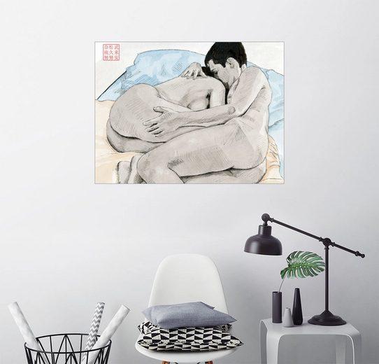 Posterlounge Wandbild - Bryan James »Die Liebhaber«