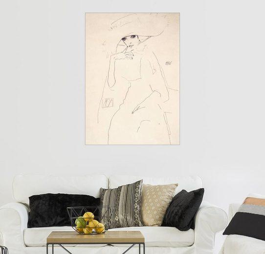 Posterlounge Wandbild - Egon Schiele »Tänzerin Moa«