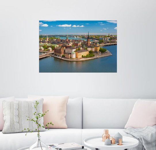 Posterlounge Wandbild »Stockholmer Altstadt«