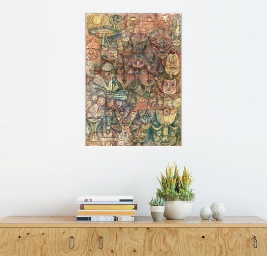 Posterlounge Wandbild - Paul Klee »Seltsamer Garten«