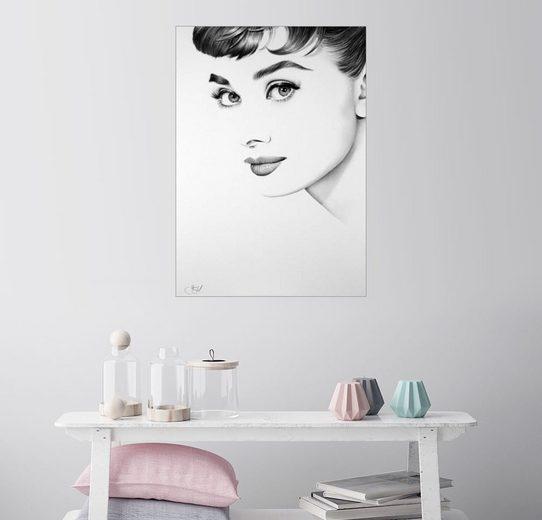Posterlounge Wandbild - Ileana Hunter »Audrey Hepburn«