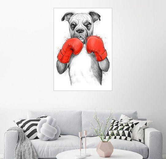 Posterlounge Wandbild - Nikita Korenkov »Deutsch Boxer«