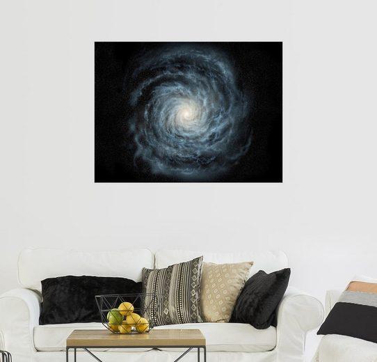Posterlounge Wandbild - Ron Miller »face-on Ansicht der Milchstraße«