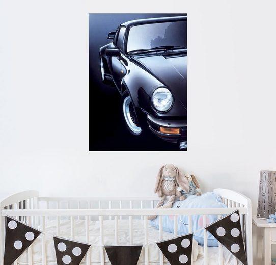 Posterlounge Wandbild - Gavin Macloud »Schwarzer Porsche Turbo«