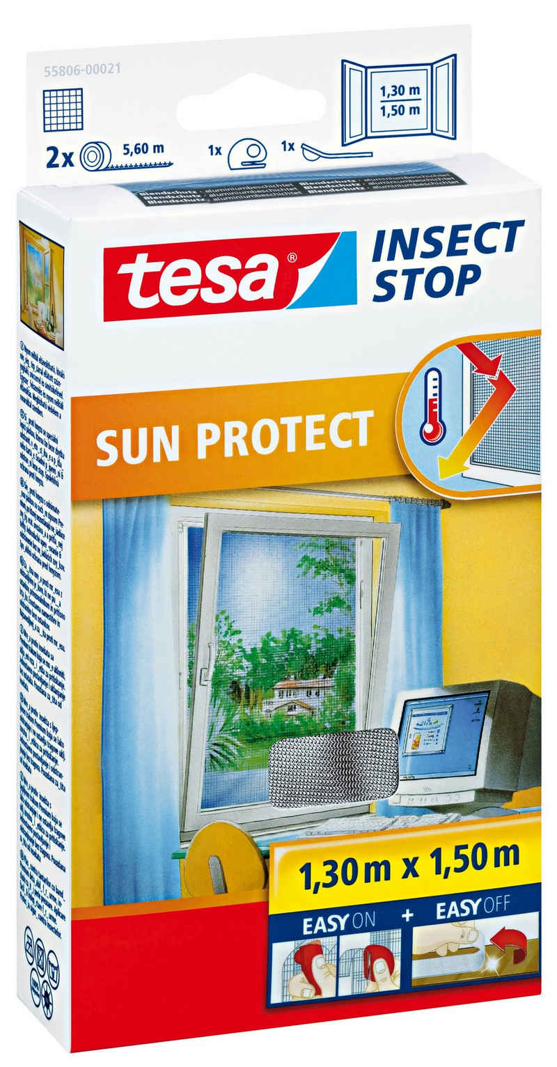 tesa Insektenschutz-Fenster »Insect Stop Fliegengitter Sonnenschutz für Fenster«, (1-St), Insektenschutz, Blendschutz, Sonnenschutz