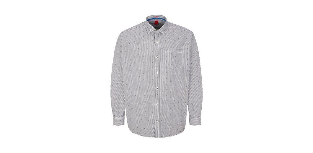 Billig 2018 Neu Gutes Angebot s.Oliver RED LABEL Regular: Oxfordhemd mit Print KDDrEqr