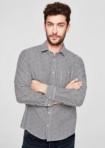S.oliver Red Label Slim: Cotton Shirt In Jeans