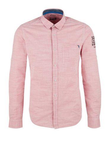 s.Oliver RED LABEL Slim: Strukturhemd aus Baumwolle