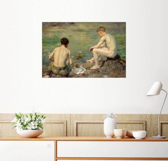 Posterlounge Wandbild - Henry Scott Tuke »Drei Gefährten«