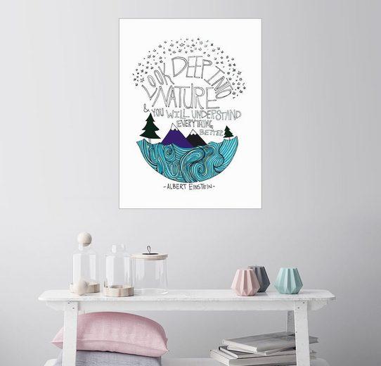 Posterlounge Wandbild - Leah Flores »Einstein Nature«